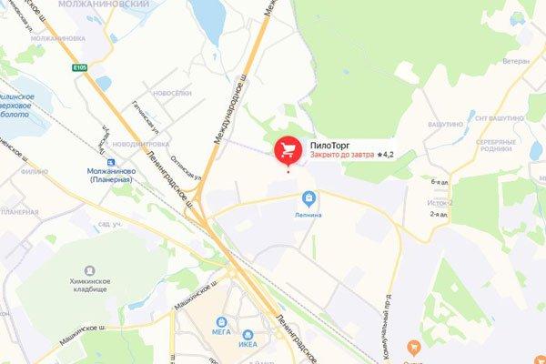 В картах Яндекса